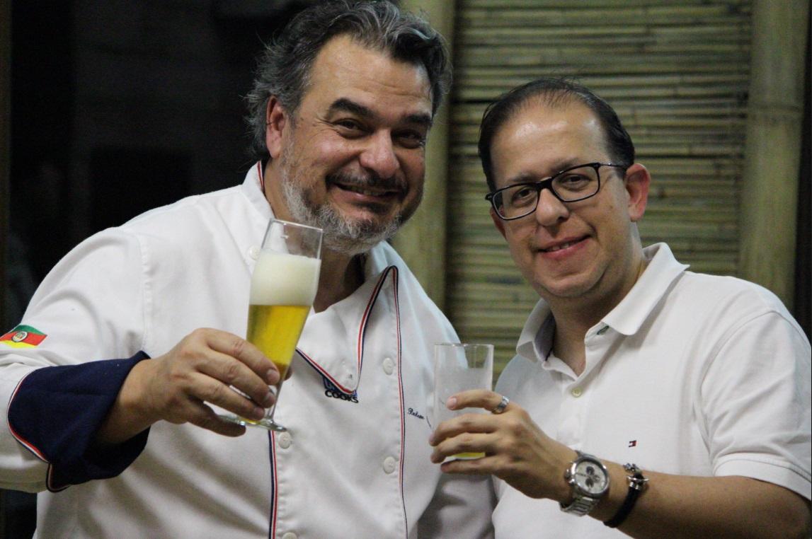 Rubem (o Chef Fridô) e Marcus Bernardes