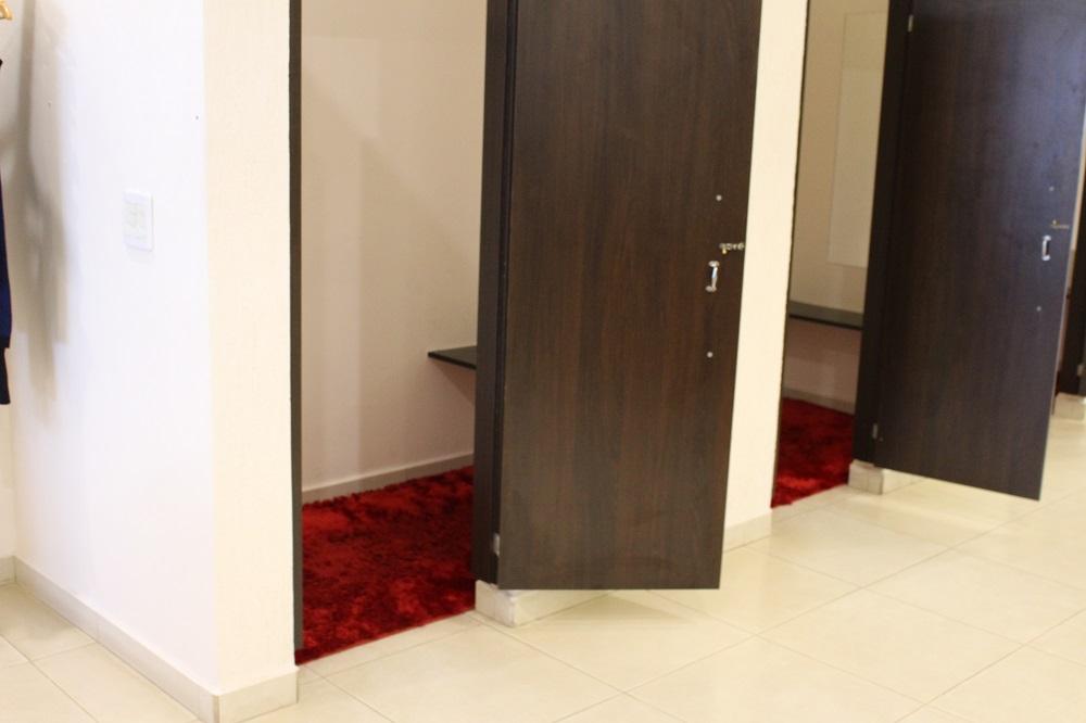 Provador confortável e espaçoso