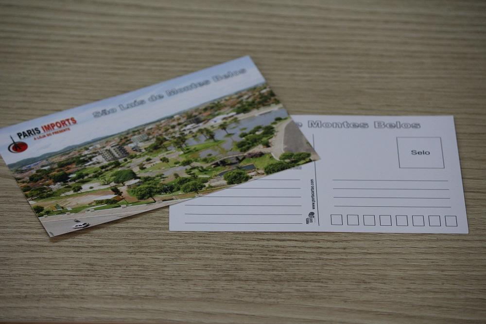 cartão postal de São Luis de Monte Belos - GO