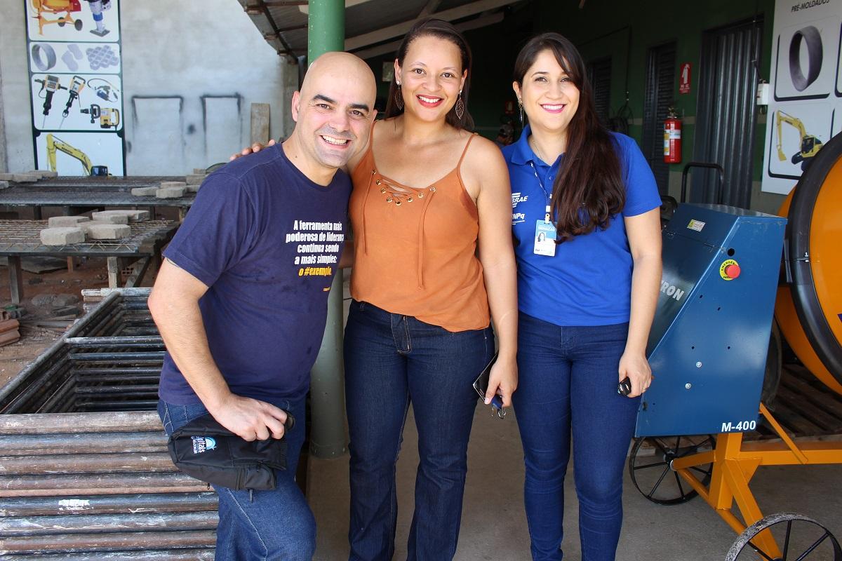 Leandro Branquinho, Karlene e Raylane Consultora do Sebrae e Agente Local de Inovação