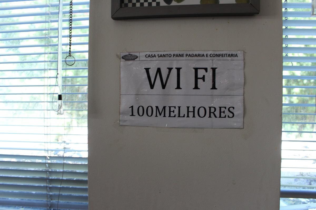 senha do wifi da padaria Santo Pane